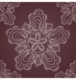 Seamless lace pattern fantasy flowers vector image