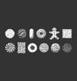 set different kind cookies vector image vector image