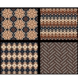 Set of four knitted swatches with fair isle vector image vector image