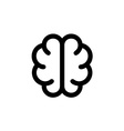 Simple brain icon Solid contour line style Top vector image vector image