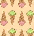 Sketch icecream cone in vintage style vector image vector image