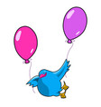 stock pigeon on balloons vector image vector image