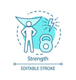 strength turquoise concept icon strong man vector image vector image
