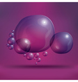 Transparent Soap Bubbles on Purple Background vector image vector image
