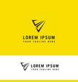 v letter modern trendy design logo letter icon vector image vector image