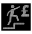 white halftone pound business steps icon vector image vector image