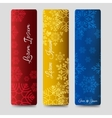 Winter bookmarks collection with snowflakes vector image