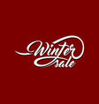 winter sale calligraphic text vector image vector image