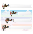 WW1 Aeroplane Toys Vickers Banner vector image