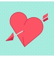 Heart and Arrow Abstract holiday background vector image