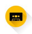 Modern audio icon with long shadow vector image