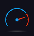 speed test circle vector image