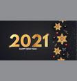 2021 happy new year elegant holiday decoration vector image