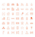 49 architecture icons vector image vector image