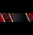 abstract red black technology web banner design vector image vector image