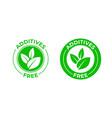 additives free green organic leaf icon