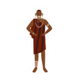 african man aboriginal tribe wearing vector image vector image