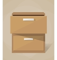 archive filling cabinet vector image vector image
