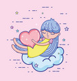 beautiful girl in love vector image