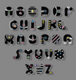 black font superhero style vector image vector image