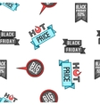 Black Friday sale pattern cartoon style vector image