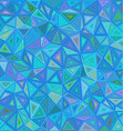 Blue chaotic triangle mosaic background design vector image vector image