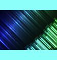 blue green speed bar overlap in dark background vector image vector image