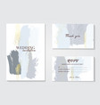 blue grey pastel greeting brush strokes wedding vector image vector image