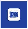 blue round button for app application new vector image vector image
