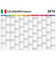 Calendar 2014 Italy Type 12 vector image vector image