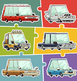 cartoon cars stickers set vector image vector image