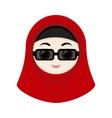 Cartoon girl with hijab vector image vector image
