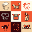 cats logo icons vector image vector image
