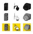cctv and camera sign set vector image