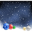 christmas bauble night background vector image vector image