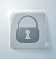 circle icon with a shadow padlock vector image