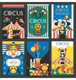 Circus retro posters vector image vector image