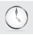 clock icon background vector image vector image