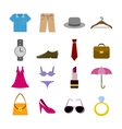 Collection of clothes accessories vector image vector image
