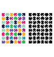colored and black puzzle vector image vector image