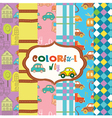 colorful children pattern vector image vector image