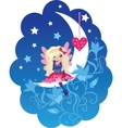 cute love angel cartoon vector image vector image