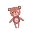 cute soft teddy bear plush toy stuffed cartoon vector image vector image