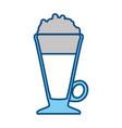 delicious cold coffee vector image vector image