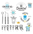 Dental labels and icons set vector image vector image