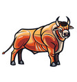 drawing of standing bull vector image vector image