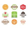 European cuisine label vector image vector image