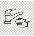 faucet icon vector image vector image