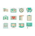 Flat design icons for cardiology vector image vector image