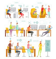 flat game development composition set vector image vector image